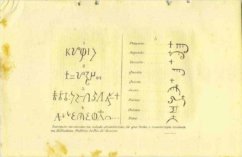 Schriftzeichen aus dem Manuscrito 512