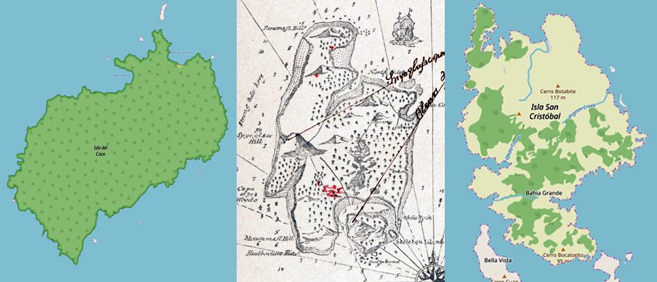 Abbildung der drei Inseln