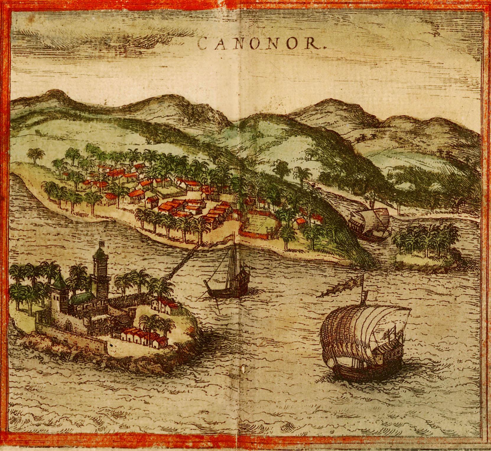Ansicht von Cannanore 1572